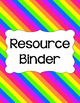 Binder/Document Covers & Spines - Rainbow: Bright