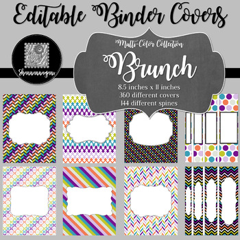 Binder Covers and Spines - Brunch | Editable PowerPoint