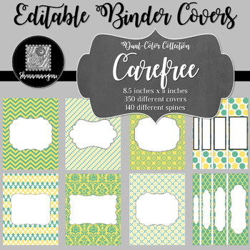 Binder/Document Covers & Spines - Dual-Color: Carefree