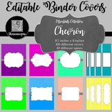 Binder Covers and Spines - Chevron | Editable PowerPoint