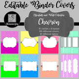 Binder Covers and Spines - Chevron and White | Editable PowerPoint