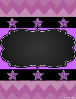 Binder Covers and Spines (Colorful Chevron & Chalkboard Theme)
