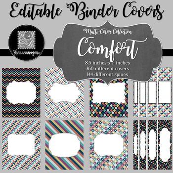 Binder/Document Covers & Spines - Multi-Color: Comfort