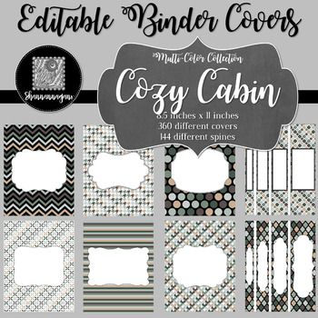 Binder Covers and Spines - Cozy Cabin | Editable PowerPoint