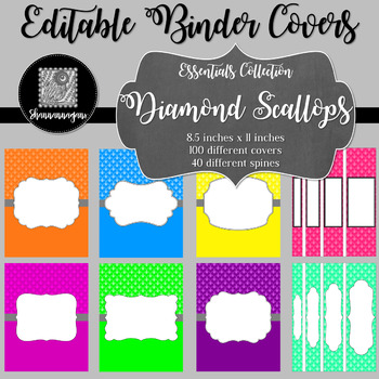 Binder/Document Covers & Spines - Essentials: Diamond Scallops