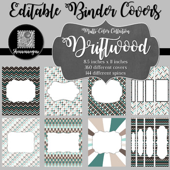 Binder/Document Covers & Spines - Multi-Color: Driftwood