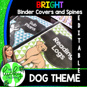 Dog Theme Binder Covers and Spines | Editable Binder covers and spines