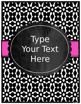 Binder Covers and Spines ~ EDITABLE! Black, White & Splash of Color