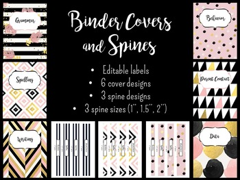 Binder Covers and Spines *Editable*