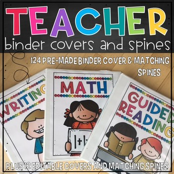 Binder Covers and Spines-Editable