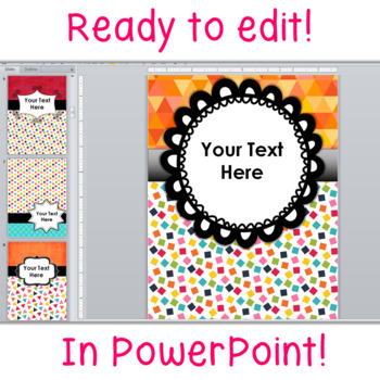 Binder Covers and Spines Editable