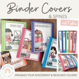 Teacher Binder Covers and Spines
