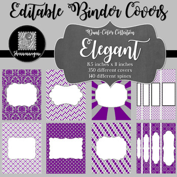 Binder Covers and Spines - Elegant | Editable PowerPoint