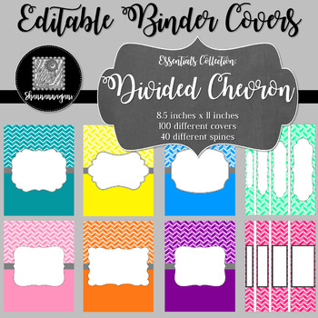 Binder/Document Covers & Spines - Essentials: Divided Chevron