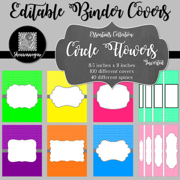 Binder/Document Covers & Spines - Essentials: Circle Flowers (Inverted)