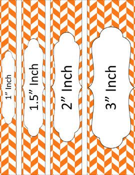 Binder/Document Covers & Spines - Essentials & White: Divided Chevron