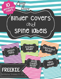 Binder Covers and Spines - FREEBIE