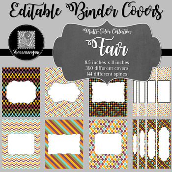 Binder Covers and Spines - Fair | Editable PowerPoint