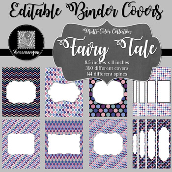 Binder Covers and Spines - Fairy Tale | Editable PowerPoint