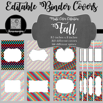 Binder/Document Covers & Spines - Multi-Color: Fall