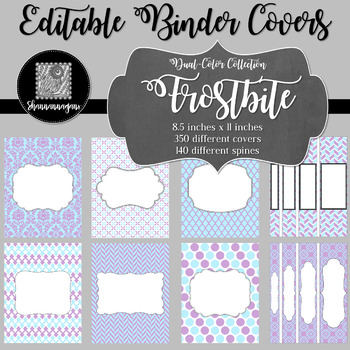 Binder Covers and Spines - Frostbite | Editable PowerPoint
