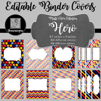 Binder Covers and Spines - Hero | Editable PowerPoint