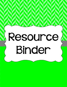 Binder Covers and Spines - Herringbone | Editable PowerPoint