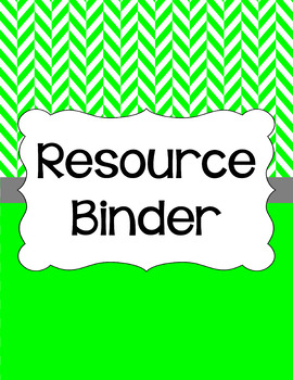 Binder Covers and Spines - Herringbone and White   Editable PowerPoint