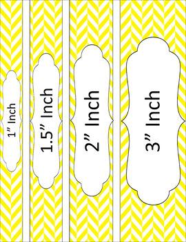 Binder/Document Covers & Spines - Essentials & White: Herringbone