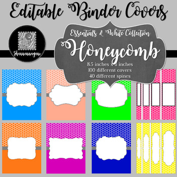Binder/Document Covers & Spines - Essentials & White: Honeycomb