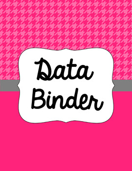 Binder Covers and Spines - Houndstooth | Editable PowerPoint