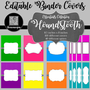Binder/Document Covers & Spines - Essentials: Houndstooth