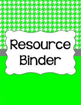 Binder Covers and Spines - Houndstooth and White   Editable PowerPoint