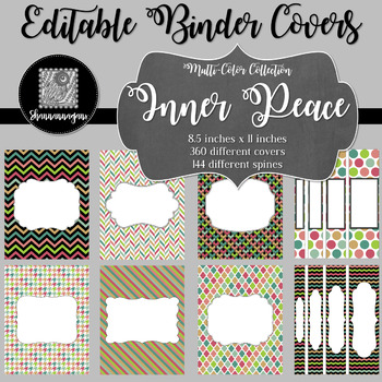 Binder Covers and Spines - Inner Peace | Editable PowerPoint