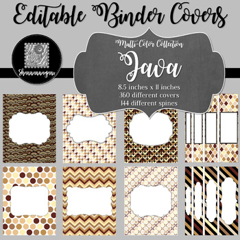 Binder Covers and Spines - Java | Editable PowerPoint