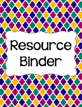 Binder/Document Covers & Spines - Rainbow: Jewel