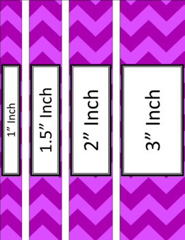 Binder Covers and Spines - Jumbo Chevron | Editable PowerPoint