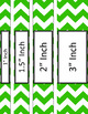 Binder Covers and Spines - Jumbo Chevron and White | Editable PowerPoint