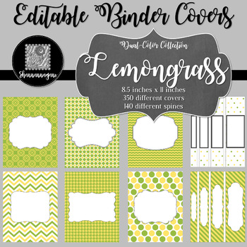 Binder/Document Covers & Spines - Dual-Color: Lemongrass