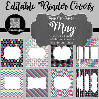 Binder Covers and Spines - May   Editable PowerPoint