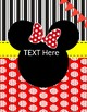 Binder Covers and Spines Mickey Mouse Inspired
