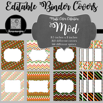 Binder Covers and Spines - Mod | Editable PowerPoint