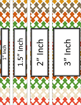 Binder/Document Covers & Spines - Multi-Color: Mod
