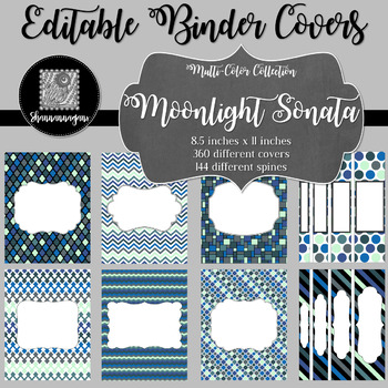 Binder Covers and Spines - Moonlight Sonata | Editable PowerPoint
