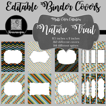 Binder Covers and Spines - Nature Trail | Editable PowerPoint