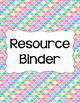 Binder/Document Covers & Spines - Rainbow: Pastel