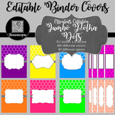 Binder/Document Covers & Spines - Essentials: Jumbo Polka Dots