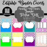 Binder Covers and Spines - Polka Dots and White | Editable PowerPoint