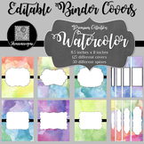 Binder Covers and Spines - Premium: Watercolor
