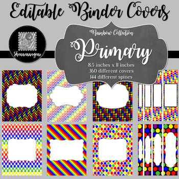 Binder Covers and Spines - Primary | Editable PowerPoint